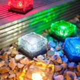 1つのLED RGBの太陽地上の水晶氷の煉瓦ライト