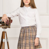 Vente en gros Custom Dernière New Cotton School Uniform Girls Shirts