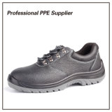 Zapatos baratos genuinos escotados de la seguridad en el trabajo del cuero S1p
