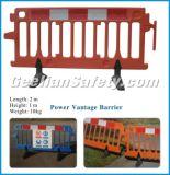 Cerca de segurança provisória, barreira da estrada da construção, cerca de segurança plástica da barreira