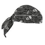 Le produit d'OEM a personnalisé l'écharpe promotionnelle de tête d'enveloppe de tête de Bandana de sports de cycliste de chiffon de Doo de crâne de coton estampée par logo