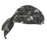 Soem-Erzeugnis passte Firmenzeichen gedruckten Baumwollfördernden Schädel Doo Lappen-Radfahrer-Sportbandana-Kopf-Verpackungs-Kopf-Schal an