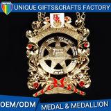 オリンピックのためのカスタマイズされた旧式な金の銀の銅のスポーツの金属メダル