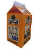 caixa do leite do milho 450ml com a caixa superior de /Gable dos tampões
