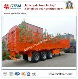 De Chinese Vervaardigde Aanhangwagen van de Vrachtwagen van de Staak 70tons/van de Omheining Semi