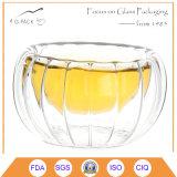 da abóbora resistente ao calor do Borosilicate de 50ml Mouthblown copo de vidro Shaped