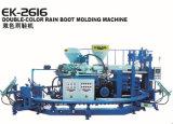 Máquina giratória automática da modelação por injeção de Rainboot da cor do PVC dois