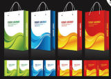Рециркулированный мешок несущей бумаги Kraft