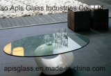 6mm 10mm 12mm Cirkel/Rond Tafelblad Aangemaakt Glas