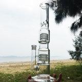 Doppeltes Strudel-gerades neueres Art-Glas-rauchende Wasser-Rohre (ES-GB-283)