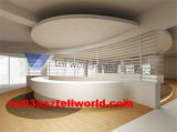 White High Gloss Reception Counter Desk