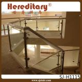 Balustrade d'escalier en verre Tempered d'acier inoxydable de support de mur (SJ-H980)