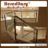 Corrimão da escada do vidro Tempered de aço inoxidável da montagem da parede (SJ-H980)