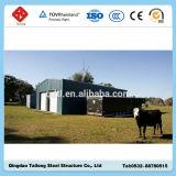 Ангар стальной структуры города Qingdao полуфабрикат