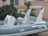 Hypalonの漕艇5.2mの安い価格の膨脹可能なボートの肋骨