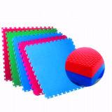 Coperchio di collegamento Anti-Fatigue 4-Tile della stuoia del pavimento della gomma piuma di EVA di puzzle di puzzle 16-Quadrato-FT di EVA della stuoia della stuoia multicolore non tossica di esercitazione con 8-Boarder