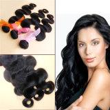 ボディ波自然なカラー9Aブラジルのバージンの人間の毛髪の拡張