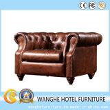 最もよい価格のヨーロッパの時代物の家具の一定の革ソファーは居間のためにセットした