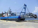 砂鉱山の浚渫船装置