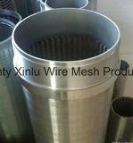 Receptor de papel de agua que perfora los filtros para pozos del agua del acero inoxidable