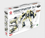 Robotechシリーズデザイナー3in1 「砂漠戦士」のおもちゃを妨げる