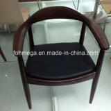Klassischer festes Holz-Vinylsitzwalnußkennedy-Stuhl