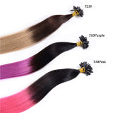 Fancy Color Popular en Europe Premium Quality IUV Flat Tip Extension brésilienne des cheveux humains