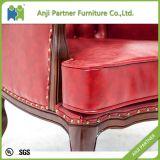 Ultimo sofà del tessuto di disegno di colore rosso 2016 (giugno)