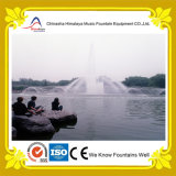 Fontana di acqua musicale di galleggiamento costruita in lago