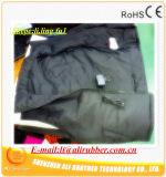 Veste aquecida das almofadas de aquecimento do tamanho XXL 7 bateria preta