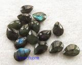 宝石類の部分自然な曹灰長石のナシのCheckbordのビード