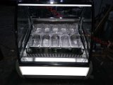 Congelador de la visualización de Gelato para el helado