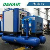 Compresor de aire integrado vertical industrial del tornillo con el secador del aire, el tanque