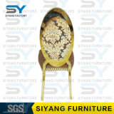 椅子を食事するホテルの家具のディストリビューターの宴会の椅子の金の鋼鉄椅子