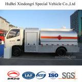 vrachtwagen van de Tanker van de Stookolie van de Benzine van de Benzine Foton de Euro 4 van 5cbm Met de Dieselmotor van Cummins