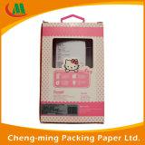 Piccola casella su ordinazione del gancio di carta dei prodotti che impacca con la finestra del PVC