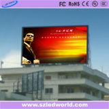 P10 SMD3535 7500CD/M2広告するビデオ壁のための屋外のフルカラーの固定LED表示スクリーンのパネル