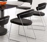 Einfacher eleganter Hauptmöbel-moderner Entwerfer-lederner speisender Stuhl (NK-DCB003)