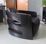 Sala de escritório Quarto de fibra de carbono cadeira de couro de braços