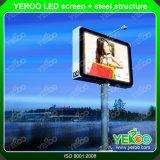Pubblicità della scheda esterna del segno del contrassegno Backlit LED del tabellone per le affissioni LED Digital