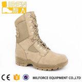 Gaine de désert tactique militaire bon marché de chaussure de sûreté de Mens à suède de cuir confortable de vache avec des tirettes