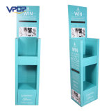 Light Blue Color Carton Floor Standing Festival Display Racks