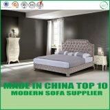 Modernes doppeltes ledernes Bett für Schlafzimmer-Möbel