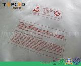 ESD que protege o saco da embalagem da folha de alumínio do Zipper