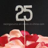 25to Primeros de la torta del Rhinestone del aniversario de bodas de plata del número para la decoración de la boda