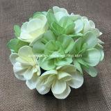 Flor de madera artificial coloreada decoración de la boda (SFA48)