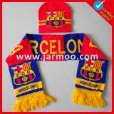Изготовленный на заказ акриловый связанный шарф вентилятора футбола футбола зимы теплый