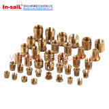 Knurls Brass Thread Insert Nut for Thermoplastic