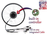 Adaptador elétrico de Bluetooth da sustentação do motor do cubo do motor da conversão Kit/BLDC da bicicleta da torta 5 espertos e indicador do LCD