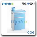 Gabinete azul da cabeceira do hospital do ABS